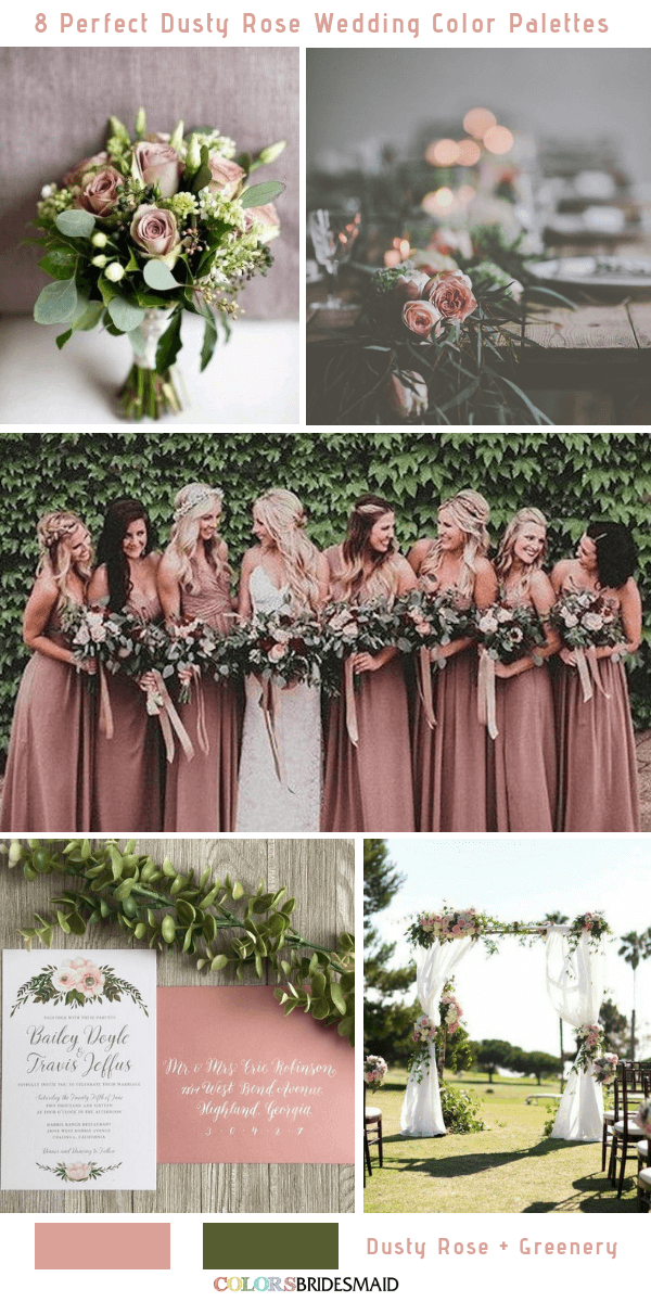 8 Perfect Dusty Rose Wedding Color Palettes For 2019 I Can Hear