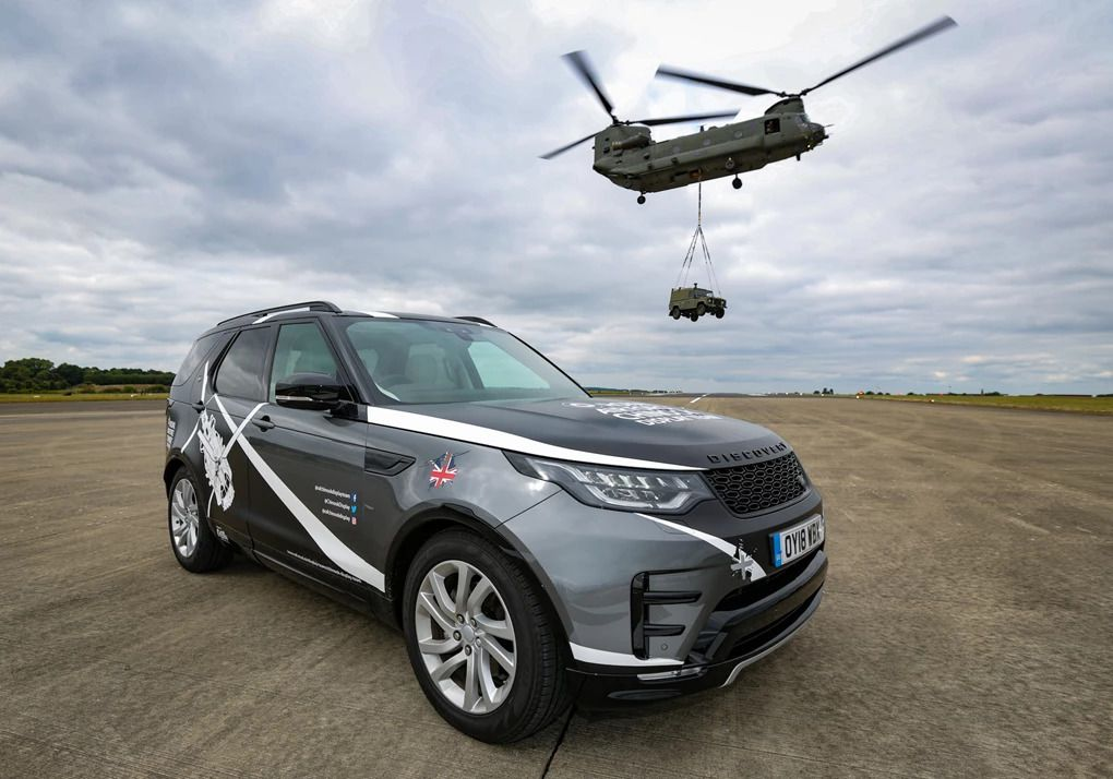 Land Rover to provide support for RAF Chinook Display Team