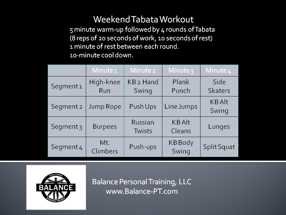 This tabata is a love to hate workout!