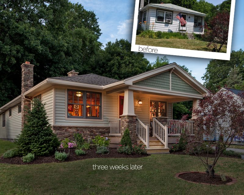 A Bungalow Transformed In Upstate New York Curb Appeal Ideas Pinterest Family Memories