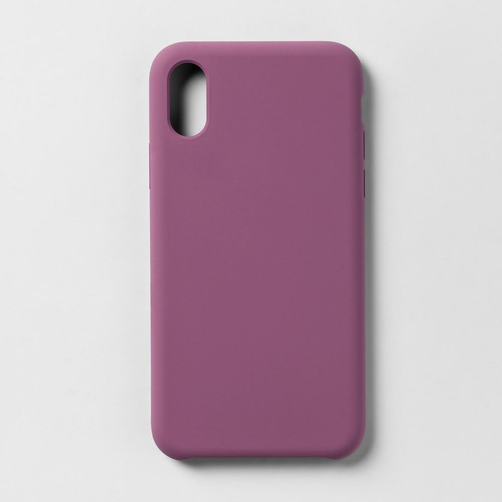648cc6c6490 heyday Apple iPhone X Silicone Case - Mauve (Pink)