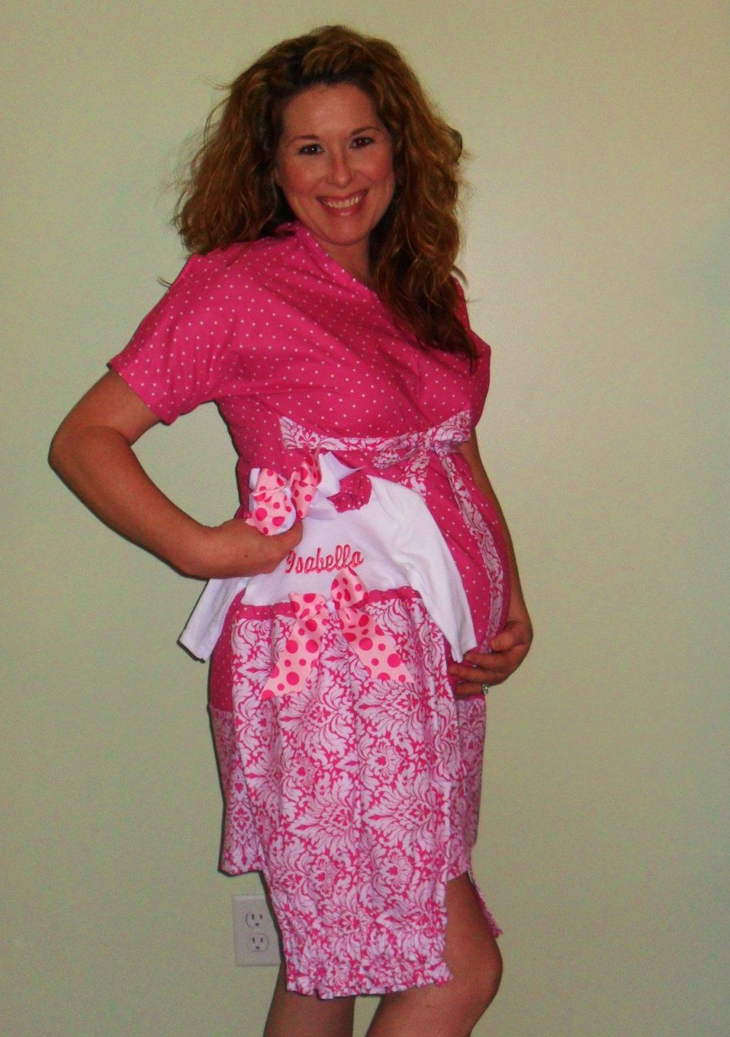 Unusual Monogram Maternity Hospital Gown Images - Images for wedding ...