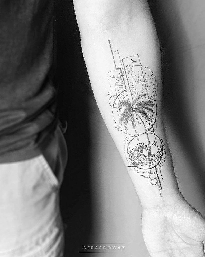 Coolgeometrictattos Geometric Tattoo Palm Tattoos Tricep Tattoos