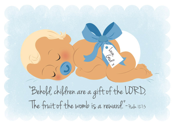 Christening Dedication Gift Baby Boy Scripture Christian Print 5x7