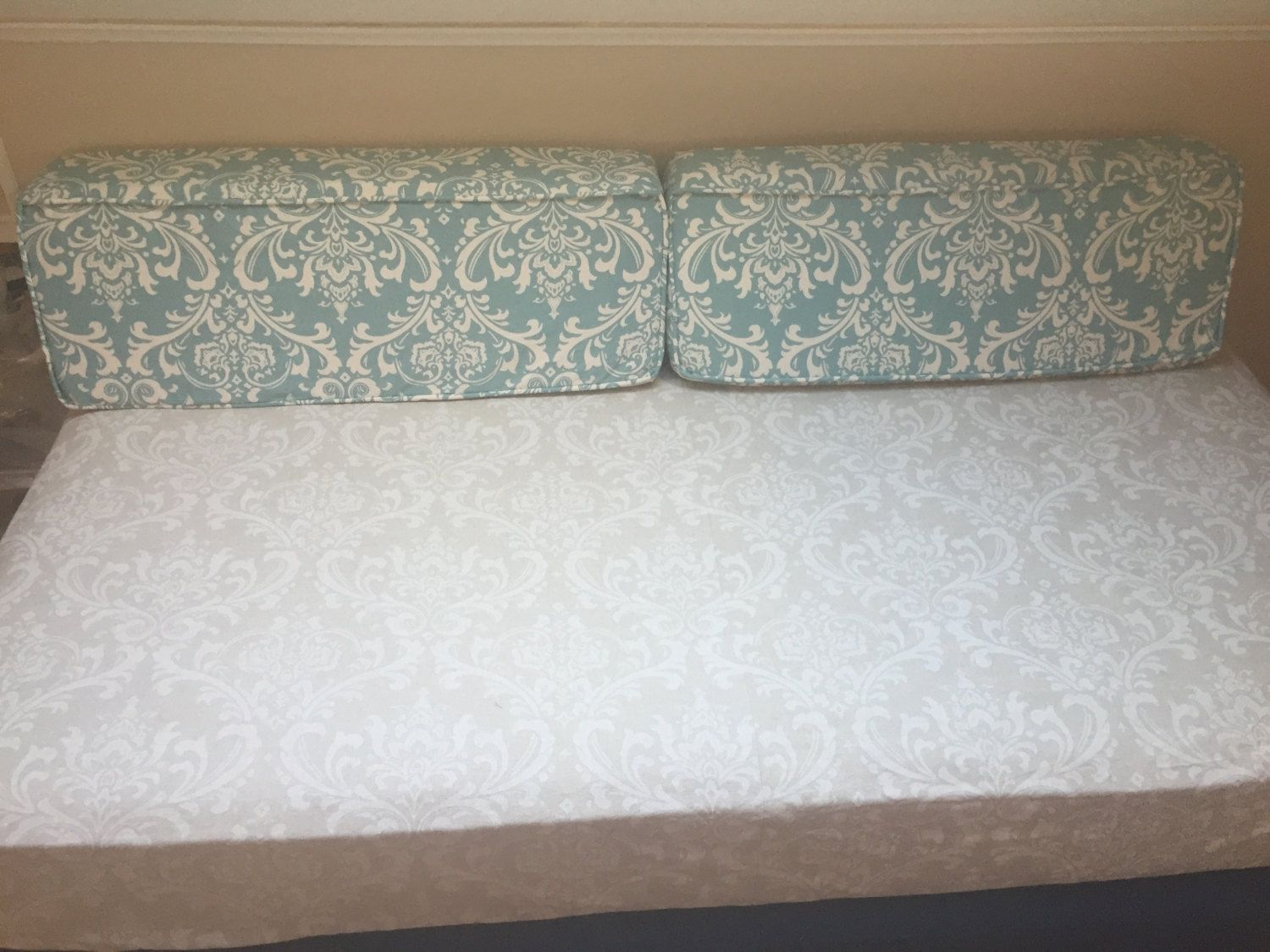 Set (2) Custom Daybed Wedge Bolster Covers 36