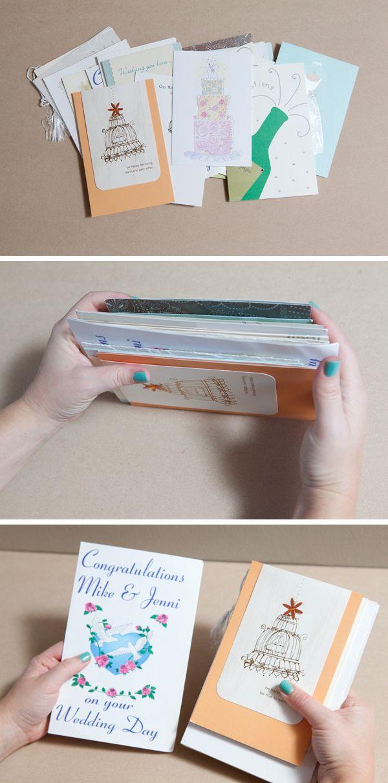 How To Diy An Adorable Album To Save Special Greeting Cards Wedding Card Book Greeting Card Book Wedding Cards Keepsake