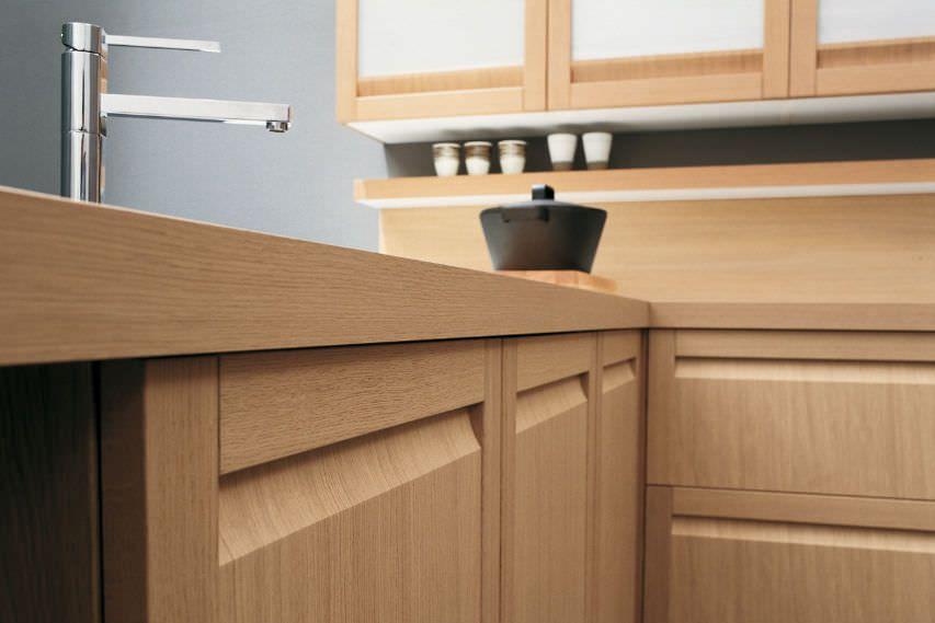Cuisine Chene Massif Moderne 63 Modern Kitchen Furniture Kitchen Worktop Wood Kitchen Counters