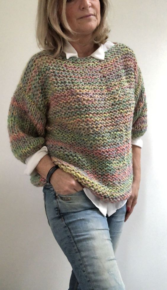 42 Ready To Wear That Make You Look Cool #poncho  #crochetsweater  #sweaterpattern  #crochet