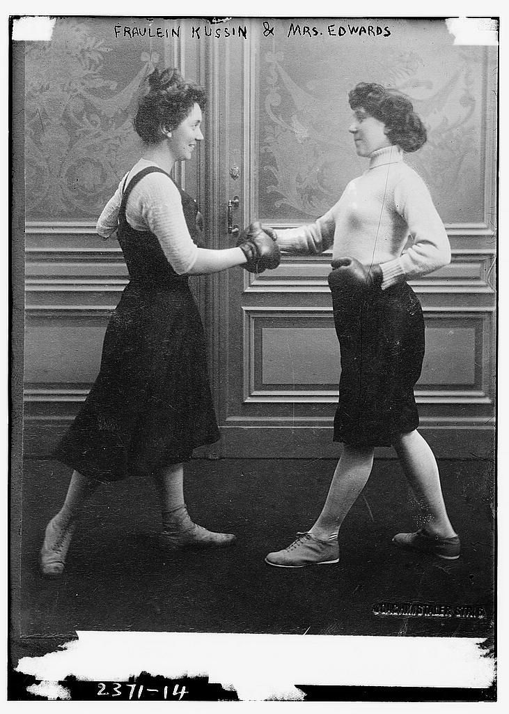 And then there were Mrs. Edwards and Faurlein Kussin who met in the boxing ring at a bout on March 7 1912 – just a month before the Titanic sank.