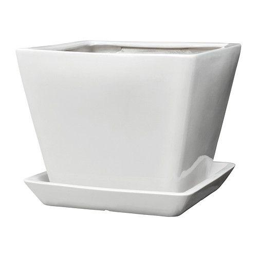 TROSSÖ Kruka med fat IKEA