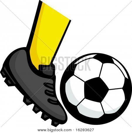 Pies Pateando Un Balon De Futbol Soccer Soccer Ball Image