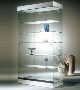 Glass Display Showcases Shop Display Cases Systems Counters At Planetdisplay Uk Glass Cabinets Display Glass Display Case Glass Shelves
