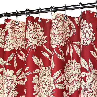 Watershed Peony Floral Shower Curtains Funky Shower Curtains