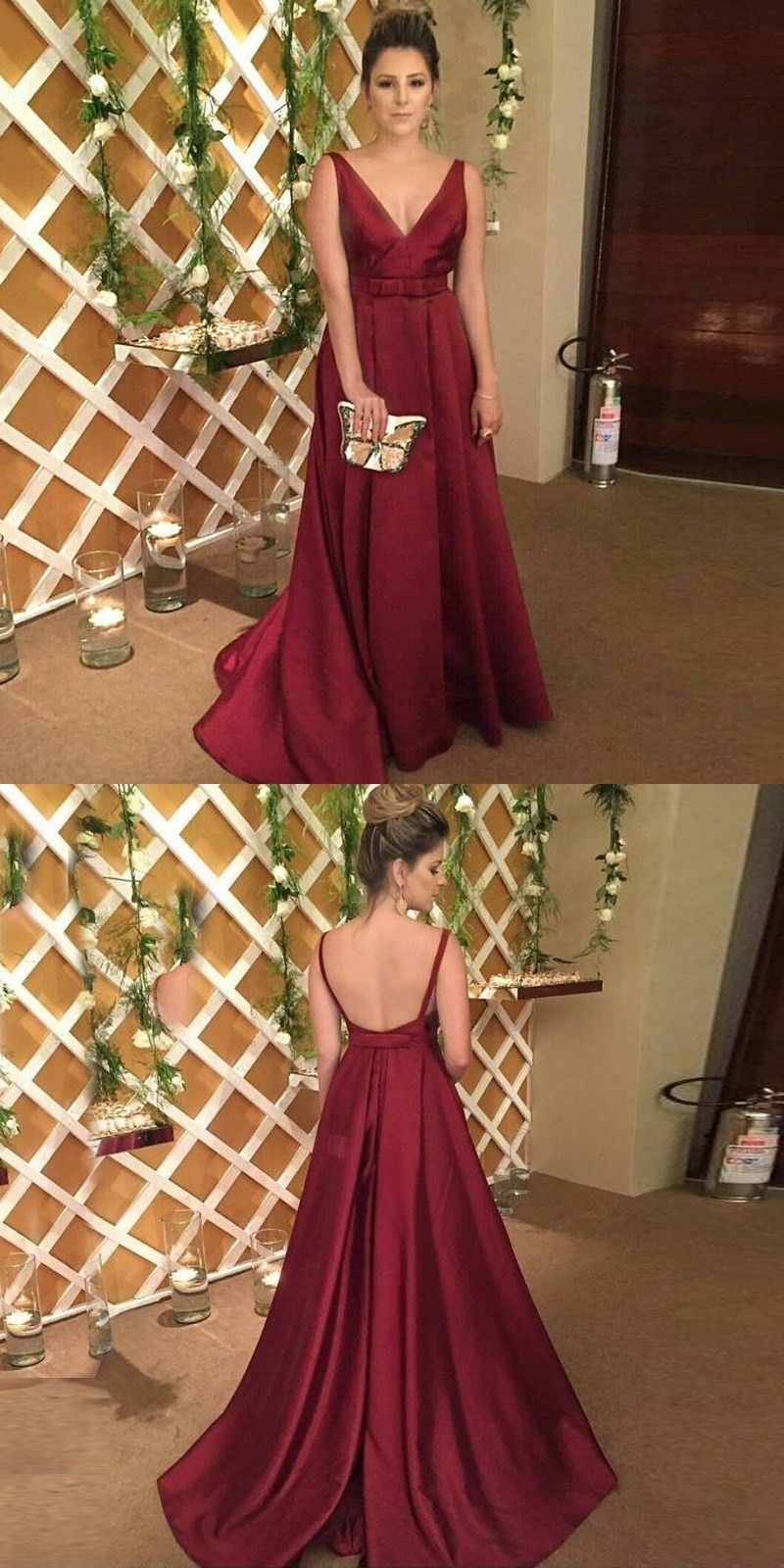 Formal evening dress military ball gown burgundy long evening
