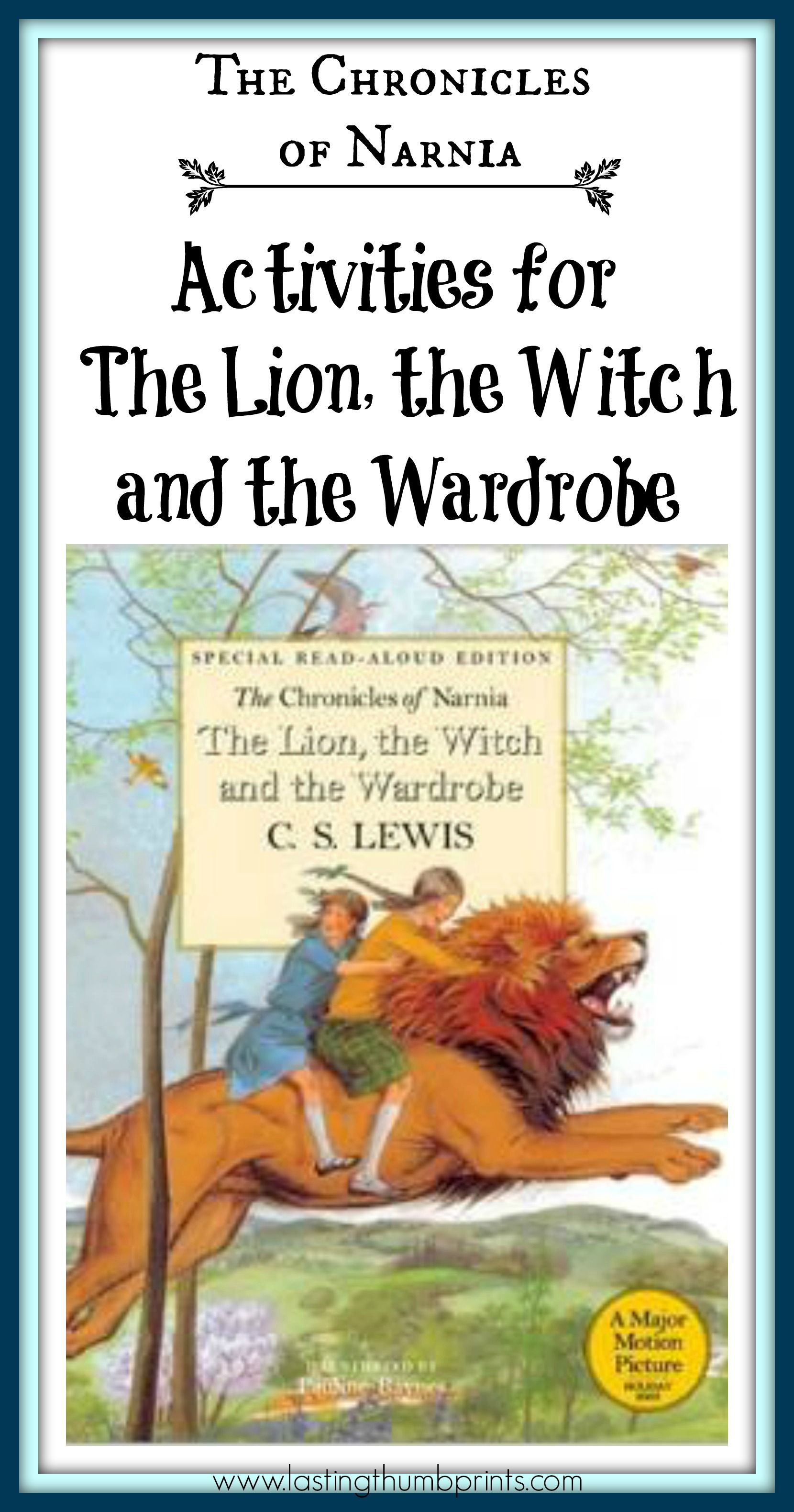 Chronicle Of Narnia Activitie For The Lion Witch Wardrobe Homeschool Reading Read Aloud And Essay