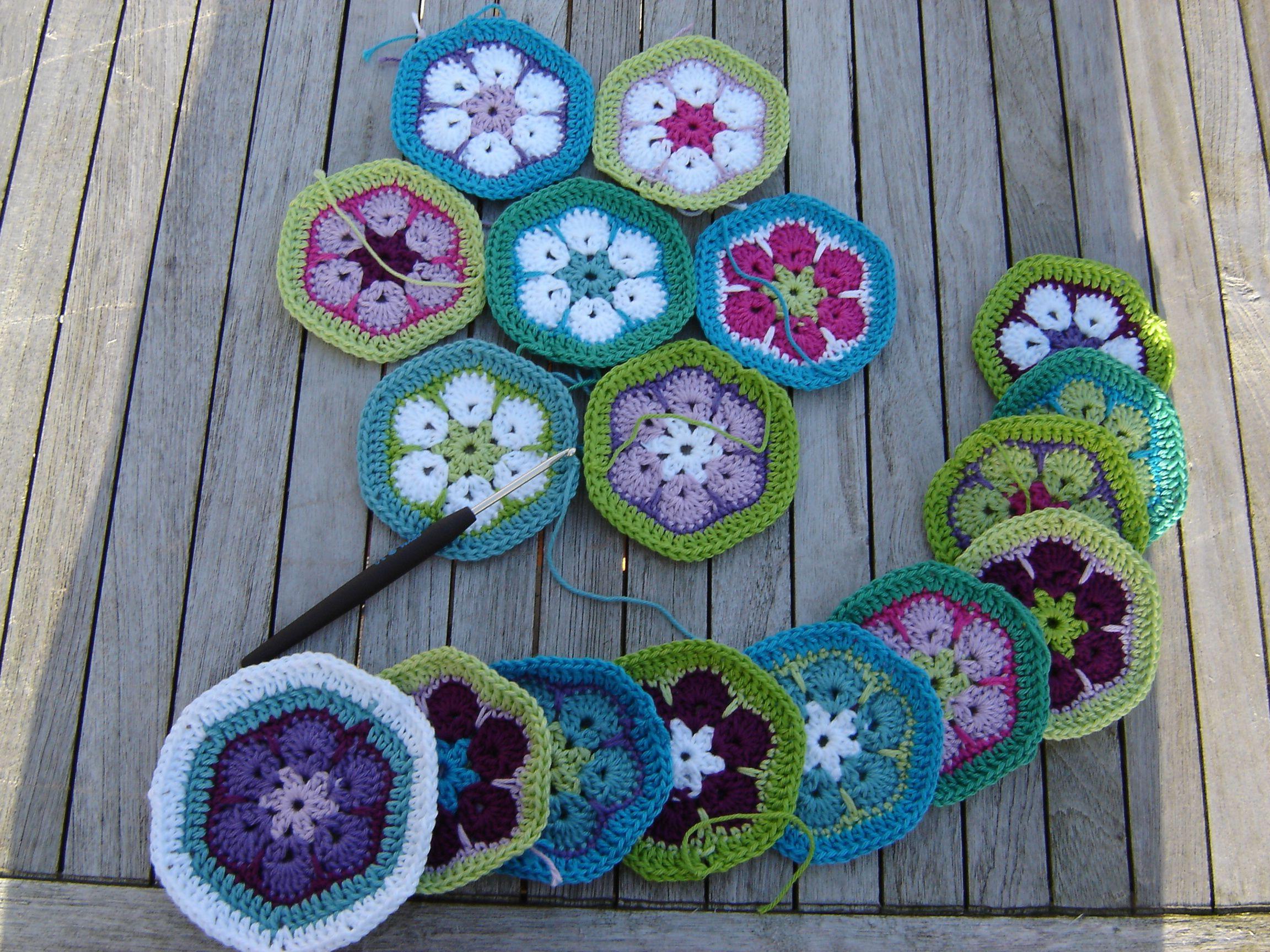 Enchanting Afrikanische Blume Häkelanleitungen Image - Decke ...