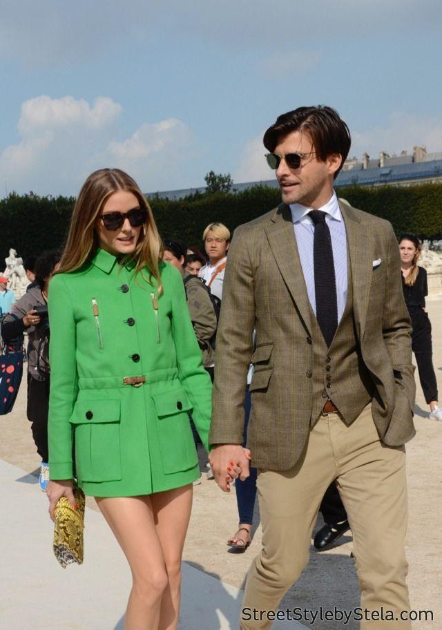 Olivia Palermo and Johannes Huebl, Paris Fashion Week SS 2015