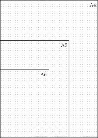 Printable dot grid paper for my bullet journal Different sizes - four ruled paper