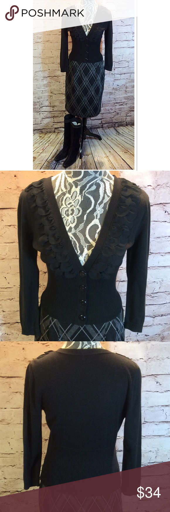 Nine west dressy black cardigan/sweater