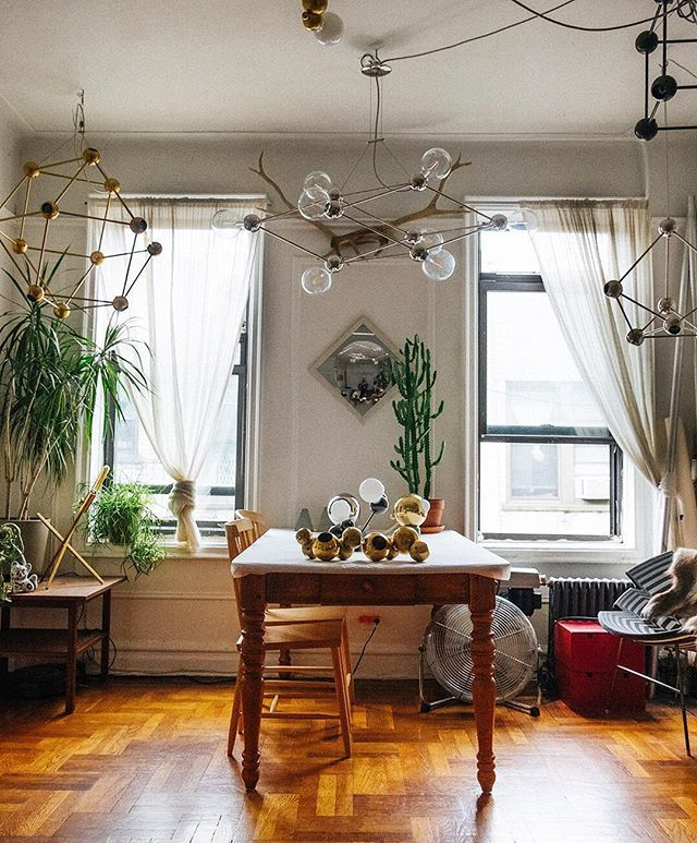 take a peek inside the beautiful brooklyn workspace of lighting rh pinterest com au