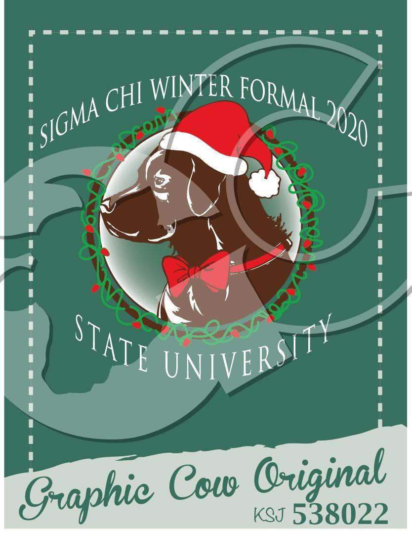 Winter Formal labrador retriever dog santa hat #grafcow