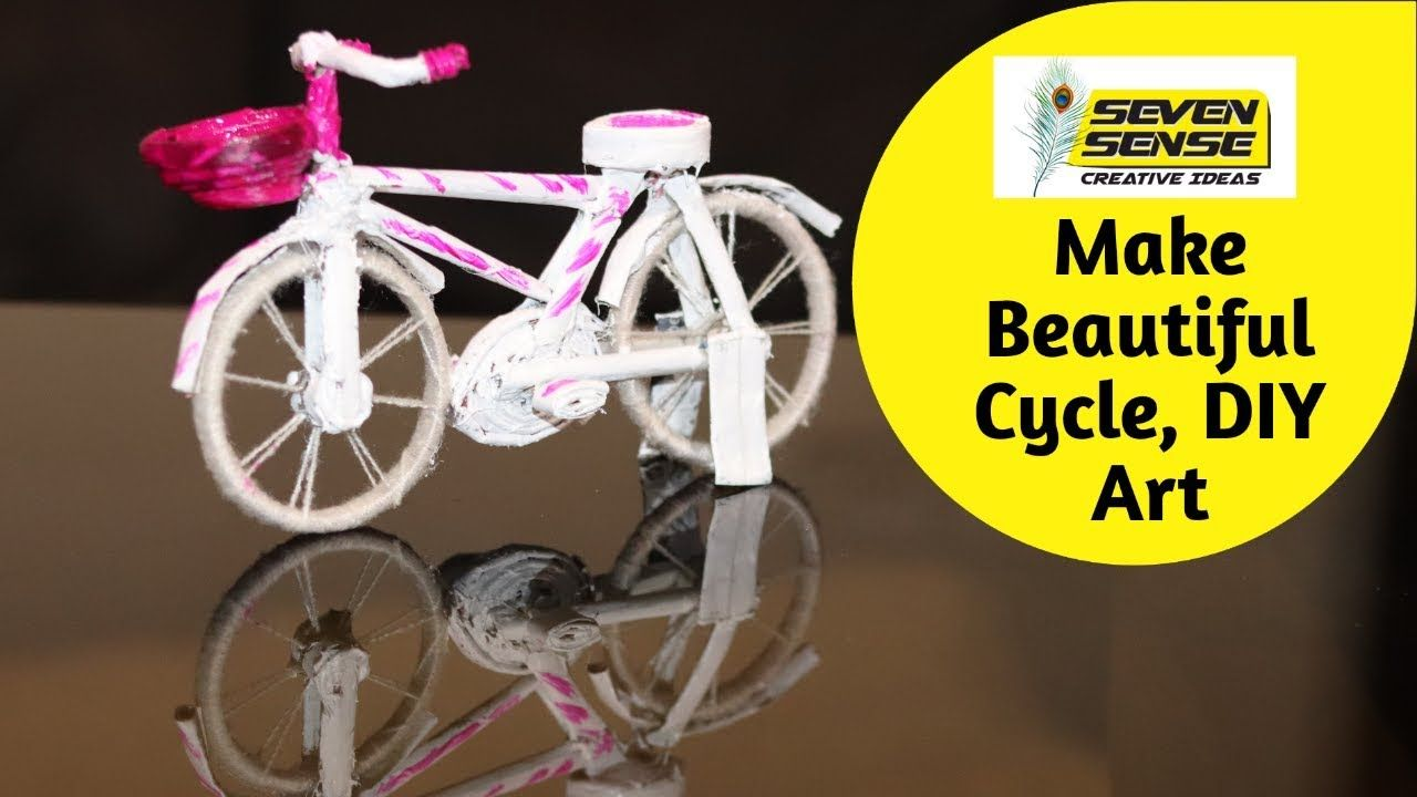 How To Make Beautiful Cycle With Newspaper Old Stuff Diy Art