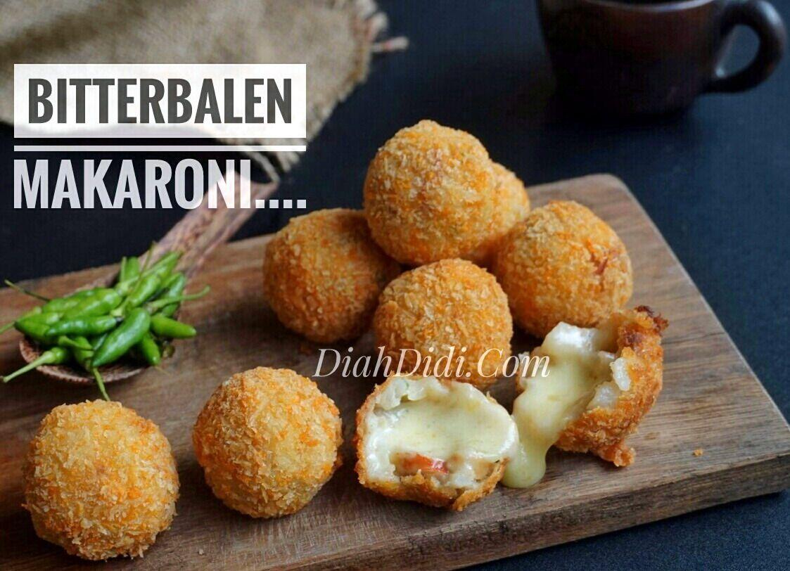 Diah Didi S Kitchen Bitterballen Makaroni Isi Mozzarella Resep Masakan Makanan Dan Minuman Resep