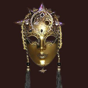 Venetian mask Volto sole Blue Moon Mask