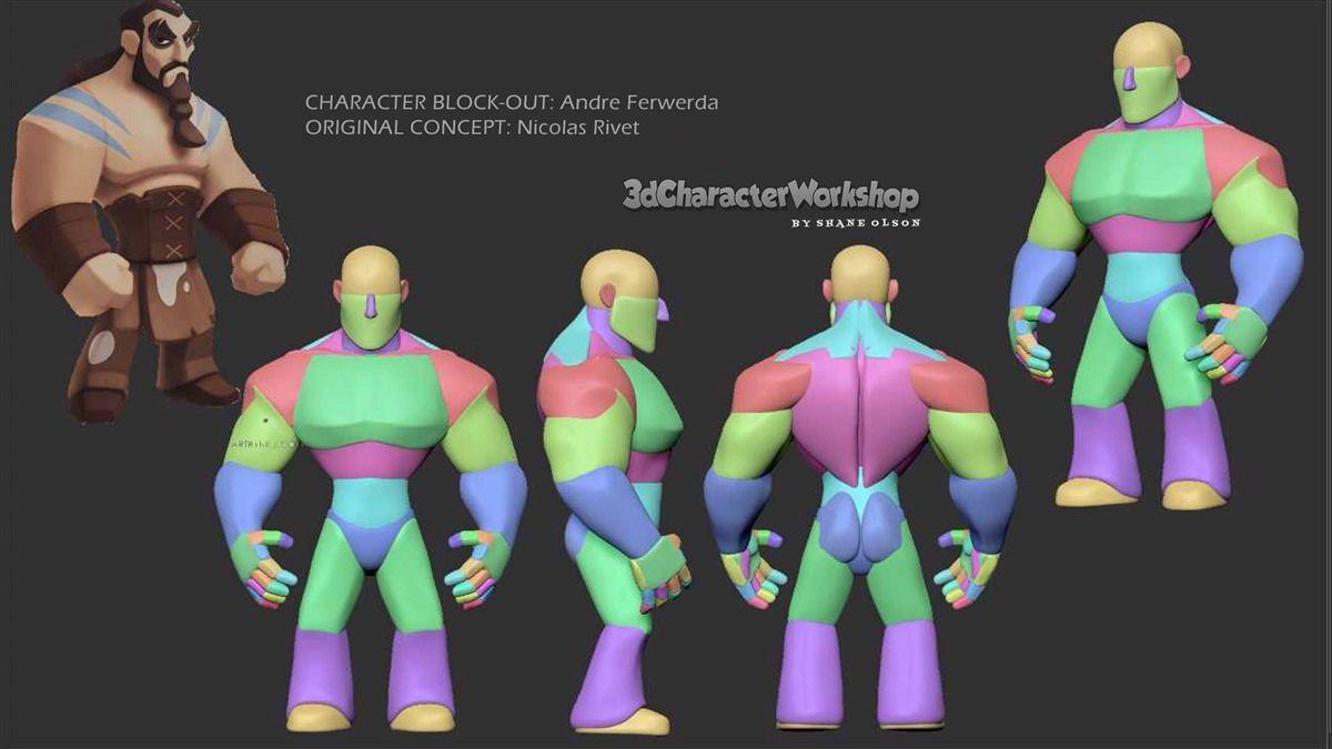 Shane Olson S 3dcharacterworkshop Student Gallery Zbrush Character Character Character Model Sheet