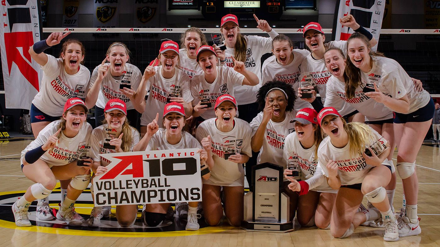 Dayton Claims The 2018 A 10 Volleyball Championship In A Thrilling Five Set Win Over Vcu Atlantic 10 Conference Official Athletic Site Volleyball Dayton Vcu