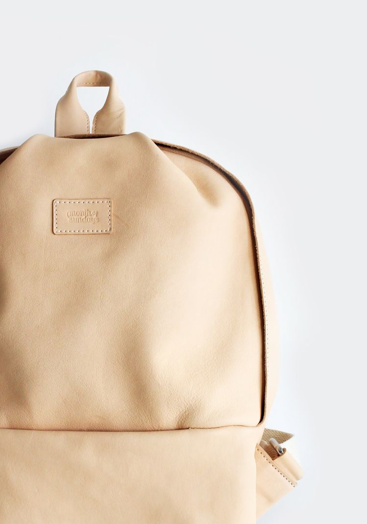 Lug around all your essentials and look chic doing it with the @monthofsundays Boul Backpack. #backpacks #shopthelink #handbags #garmentory #fashion #style