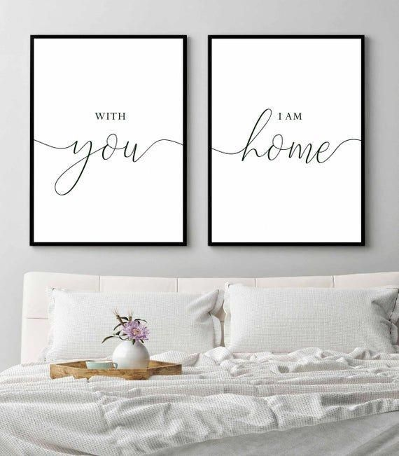 Best With You I Am Home Home Decor Home Sign Bedroom Wall Art 640 x 480