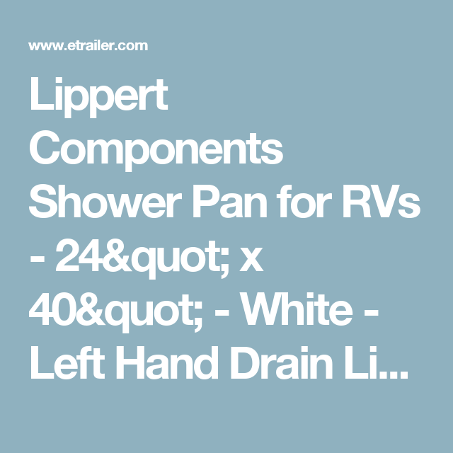 Lippert Components Shower Pan for RVs - 24\