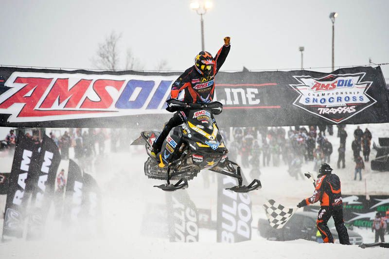 Ski Doo TeamX cleaned up at first snocross race of the