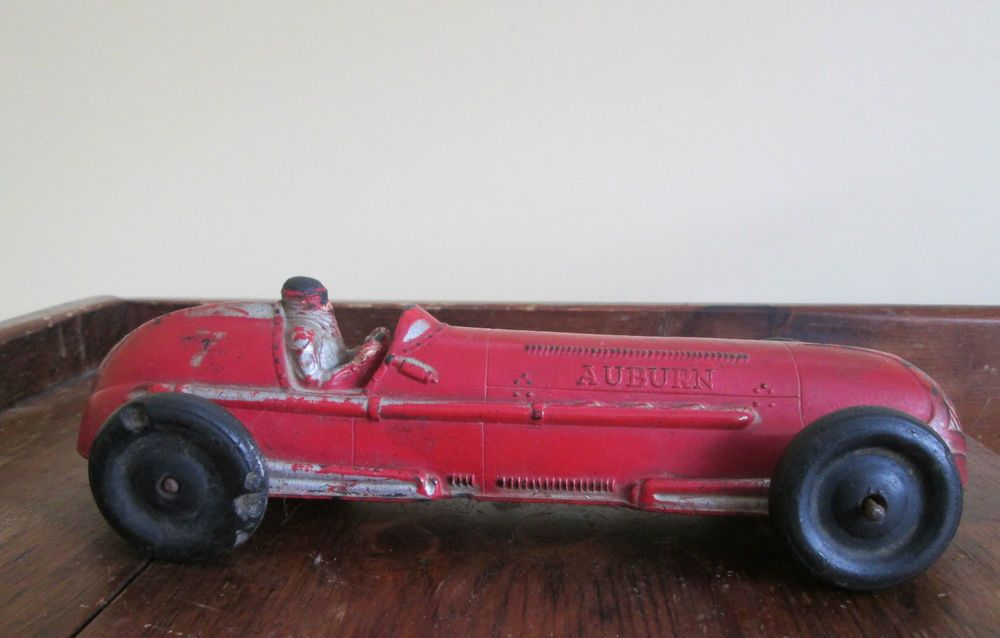 Vintage OLD 1930\'s Signed AUBURN long Number 7 Racing Toy rubber ...
