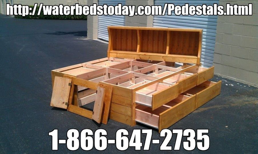 Pin By Waterbeds Today On Waterbed Drawer Pedestals