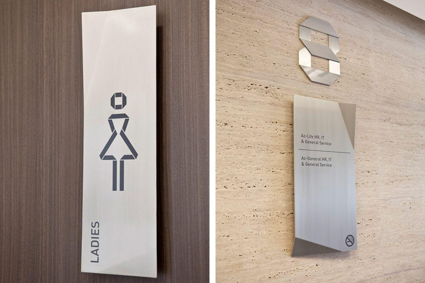 Paragon Toilet Sign System Inspirational Design