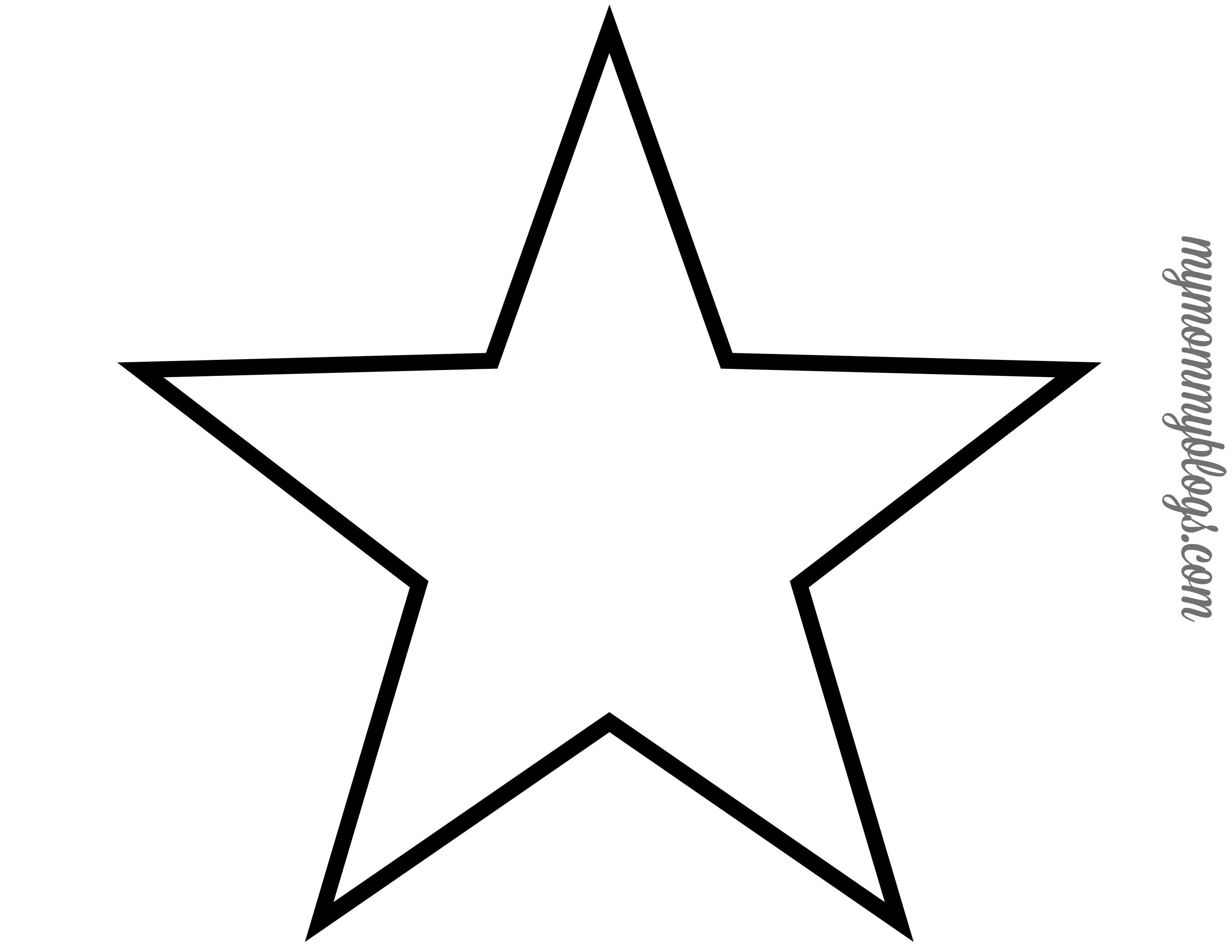 Star Template Printable Free Stars