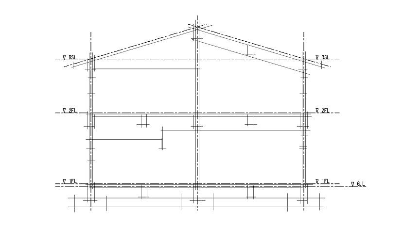 Rc造2階step製図講座 断面図 製図 Rc造 2階