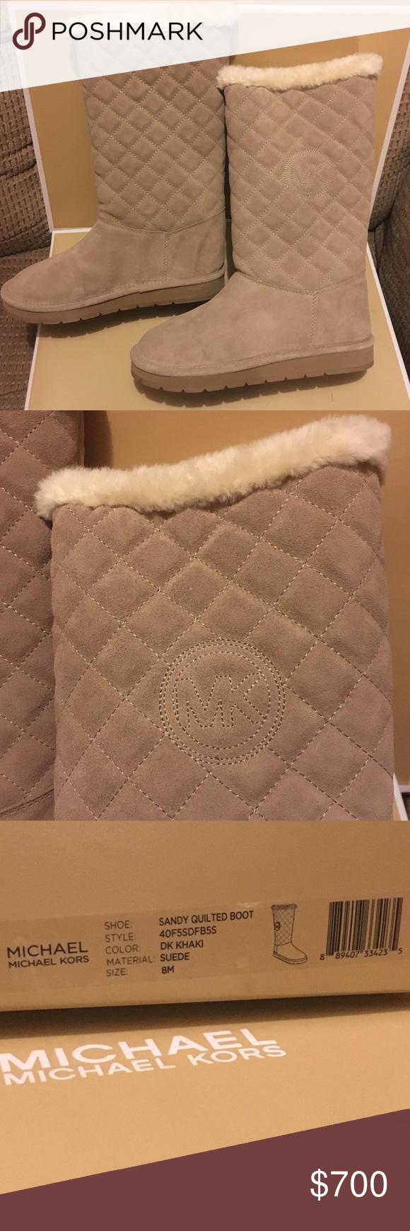 Michael Kors SANDY QUILTED Boots New in Box. Very warm & cozy. Perfect for winter.  No trade, NO LOWBALL. Michael Kors Shoes Winter & Rain Boots