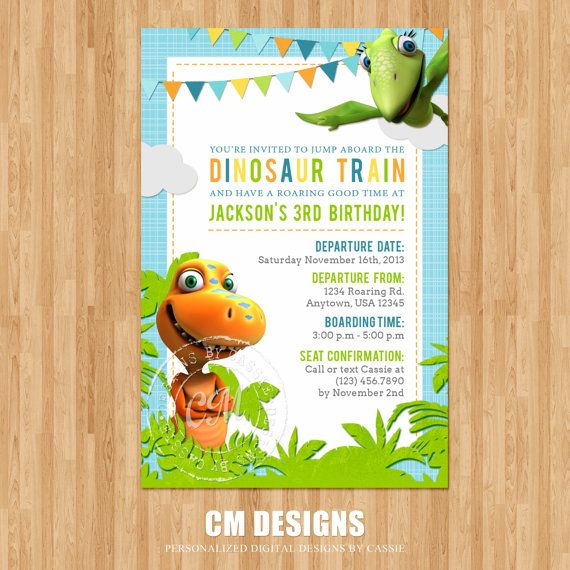 Dinosaur Train Birthday Invitation By DesignsbyCassieCM On Etsy 1299