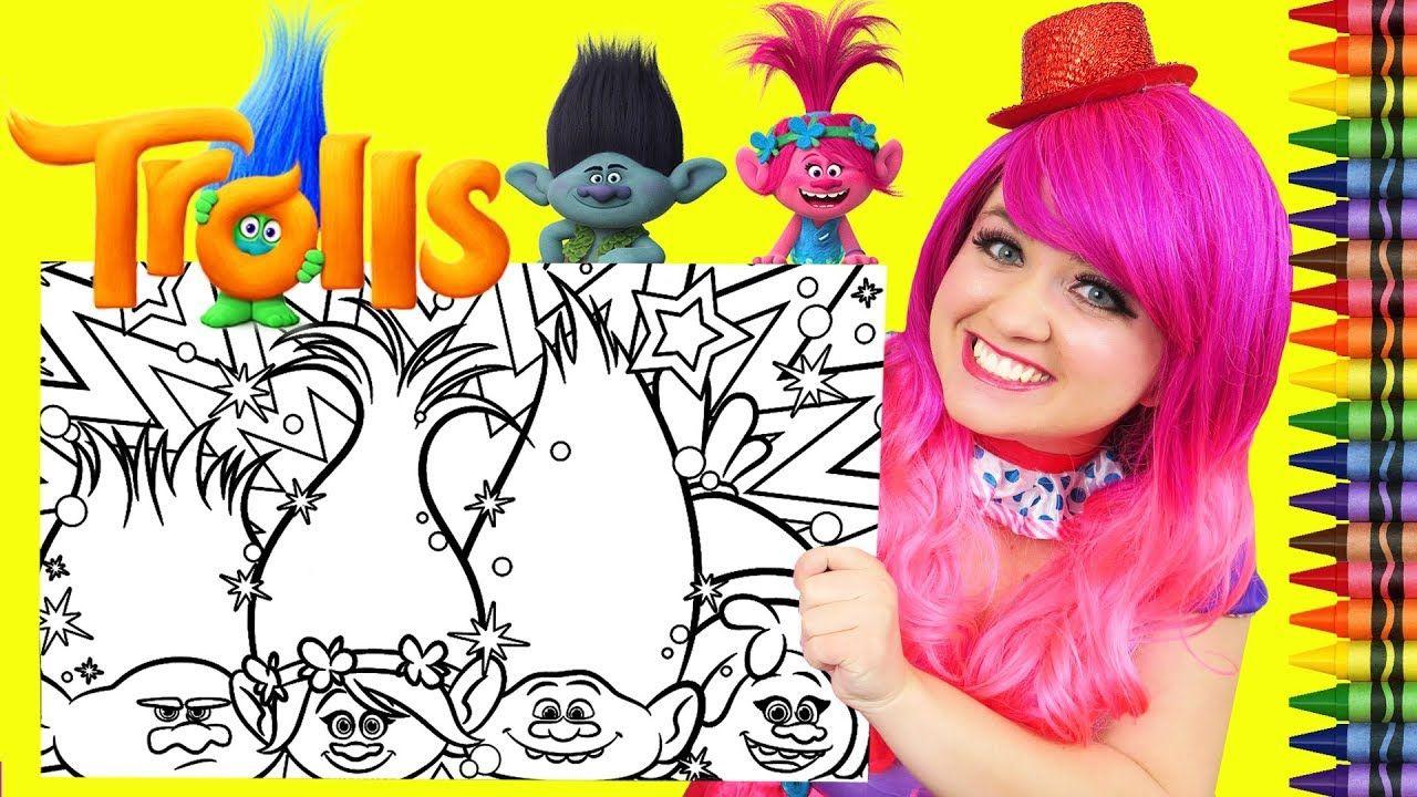 Coloring Trolls Poppy, Branch, DJ Suki, Guy Diamond