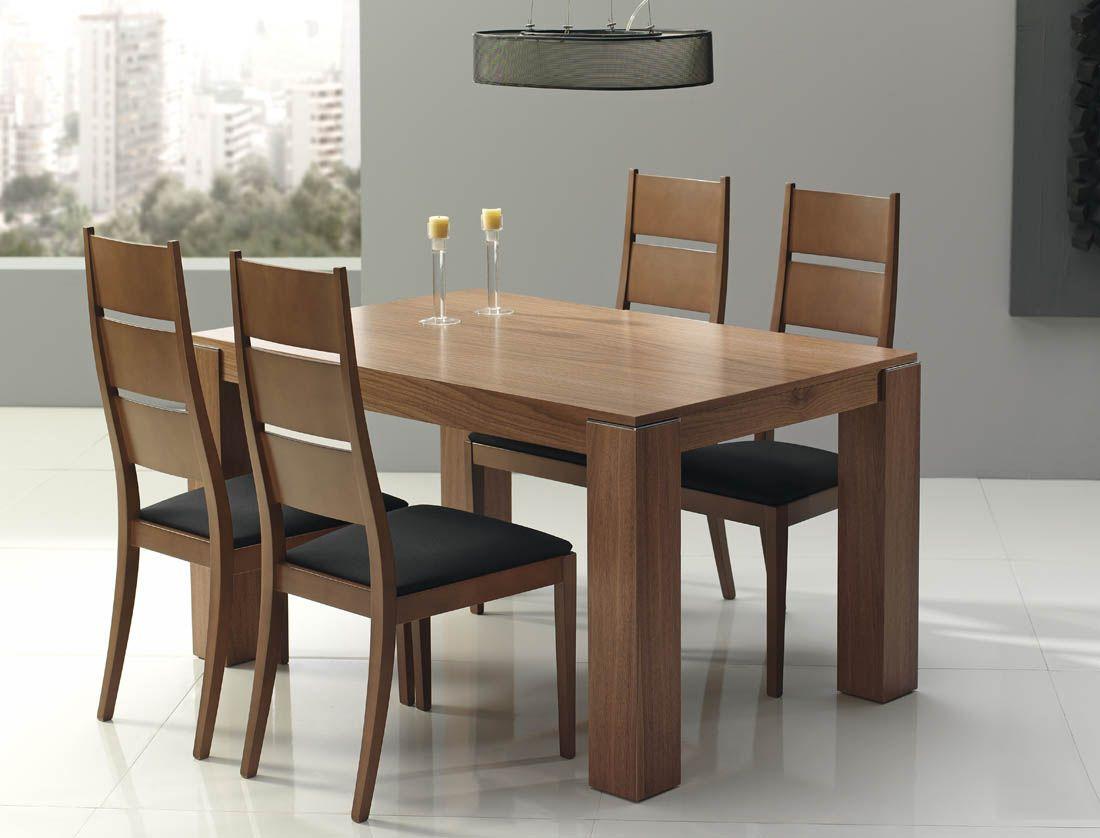 R190 comedor con mesa y sillas con o sin reposabrazos 02 for Mesas y sillas modernas