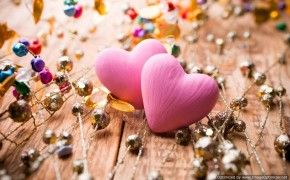 Download Pink Hearts Love Hd Wallpaper In High Resolution For Free