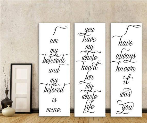 Wedding Canvas Ideas 5 Canvases For Home Emmaline Bride