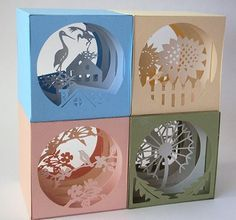 Three-dimensional paper greeting cards - from zhidiy.com/jiaoshijie