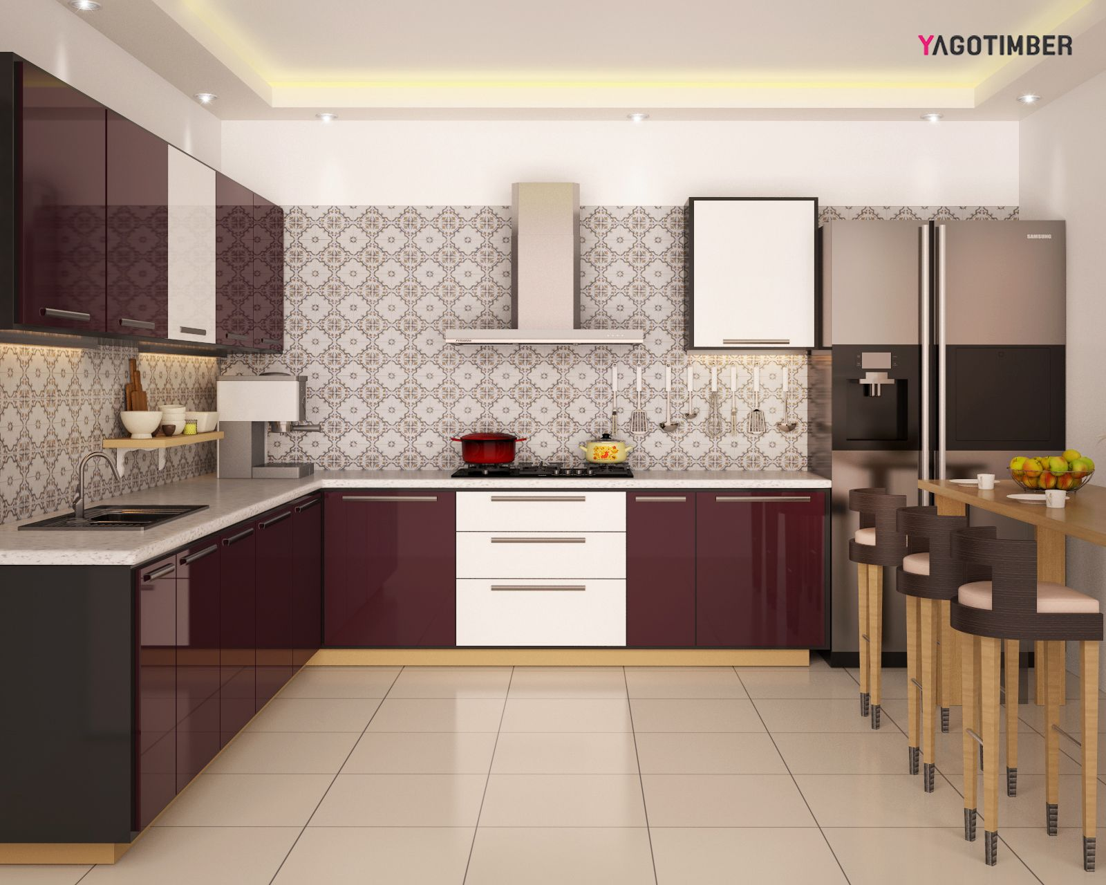Get delightful modularkitchen interior design ideas in