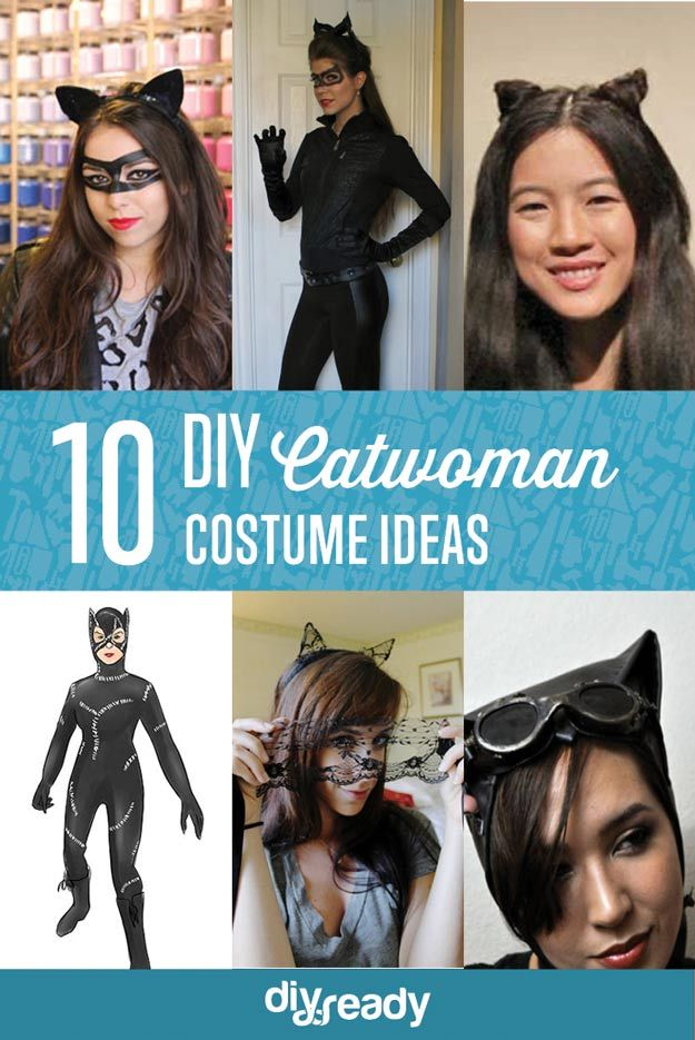 10 DIY Catwoman Costumes  sc 1 st  Pinterest : catwoman halloween costumes for girls  - Germanpascual.Com