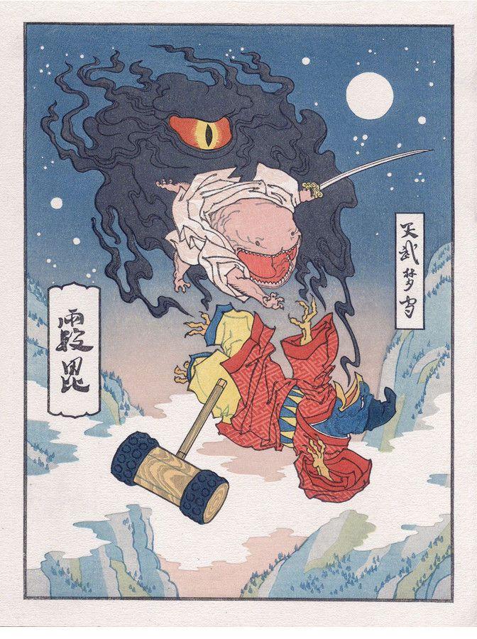 浮世絵風の星のカービィ Favourite 浮世絵ゲームアートカービィ