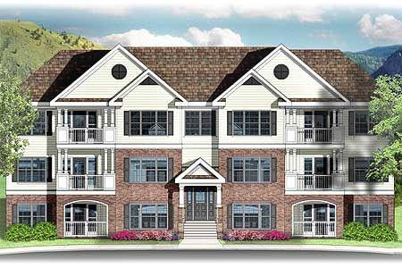 3 Story 12 Unit Apartment Building 83117dc Exclusive 1st Floor Master Suite Pdf Architectural Designs